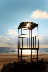The Life Guard post at Halikouna Beach